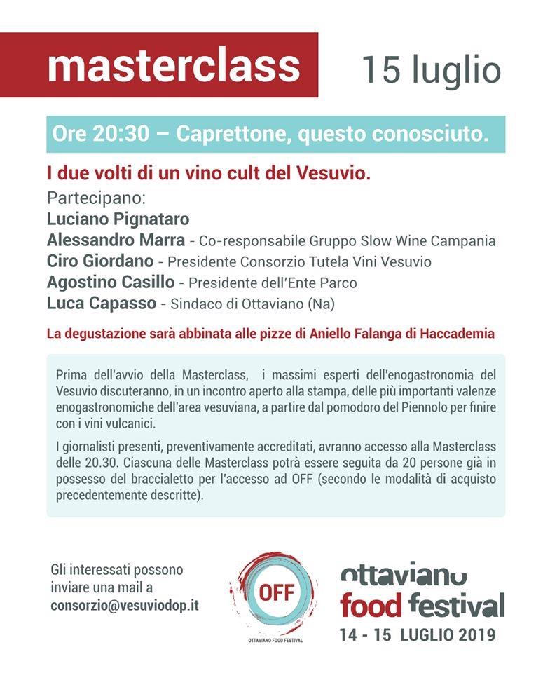 Le Masterclass Vesuvio DOP a OFF 2019